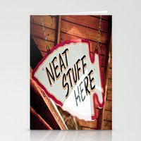 Neat Stuff Here Stationery Cards