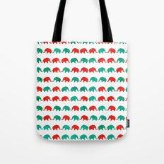 Elephants  Tote Bag