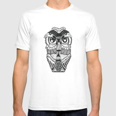 Wise Owl SMALL White Mens Fitted Tee