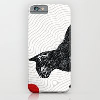 iPhone & iPod Case featuring playing cat by Randi Antonsen