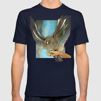 Eagle's Wings Mens Fitted Tee Navy SMALL