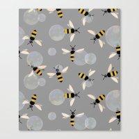 Bubble Bees Canvas Print