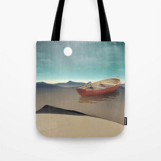at sea in a void Tote Bag