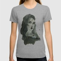 Jesse Pagz Womens Fitted Tee Athletic Grey SMALL