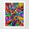 Fur From A Bright Colored Mythical Beast Art Print
