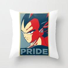 Vegeta's Pride Throw Pillow