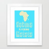 Hakuna Matata Africa Framed Art Print