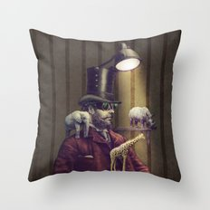 The Miniature Menagerie Throw Pillow