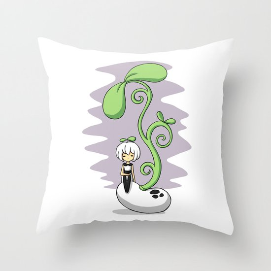 Magic Bean Throw Pillow