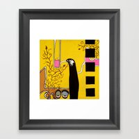 SIPPING the SWEET NECTAR of LIFE Framed Art Print