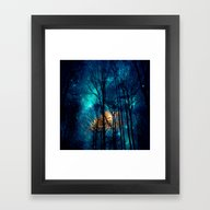 Framed Art Print featuring Starry Night by Haroulita