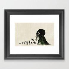 Lovecraftian Darwinism Framed Art Print