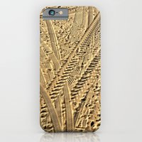Tire tracks in the sand. iPhone 6 Slim Case