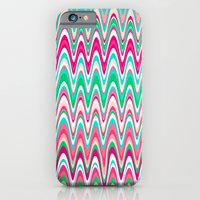 iPhone & iPod Case featuring Making Waves Pink and Preppy by Shawn King