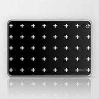 White Plus On Black /// … Laptop & iPad Skin
