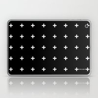 White Plus on Black /// www.pencilmeinstationery.com Laptop & iPad Skin