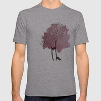 peonies Mens Fitted Tee Athletic Grey SMALL