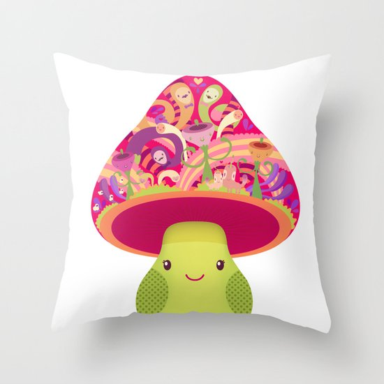 Mrs. Shroom Throw Pillow