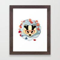 Winter Badger Framed Art Print