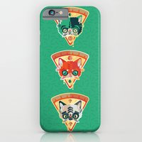 iPhone & iPod Case featuring Pizza Slice Cats  by chobopop