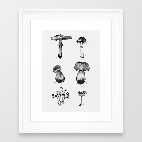 Mushroom Chart Framed Art Print