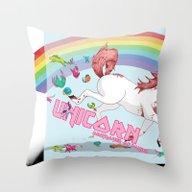 Unicorn: Destroyer Of Po… Throw Pillow