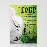 The Lord Restores Psalm 23 Stationery Cards