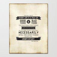 Good Things & Bad Things Canvas Print