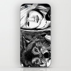 The girl and the wolf iPhone & iPod Skin