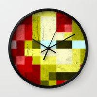 battle-damaged iron man Wall Clock