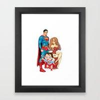 Super Heros Family Framed Art Print