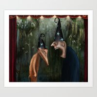 Trouble at the Magic Show Art Print