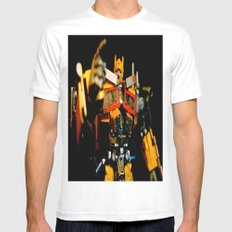 Golden Optimus SMALL White Mens Fitted Tee