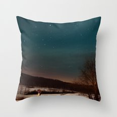 Kissing Under the Stars Throw Pillow