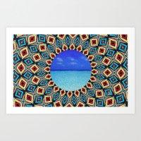 mandala sea Art Print