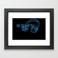Can you hear the  beat? Framed Art Print