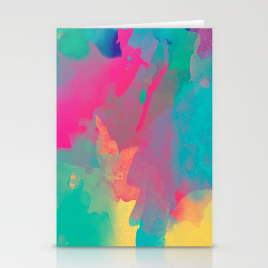 The colors mix Stationery Card