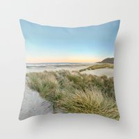 Oregon Coast Sunrise Throw Pillow
