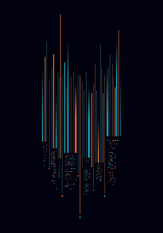 Urban Oscillations Art Print