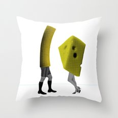 Because she's the cheese and I'm the macaroni Throw Pillow