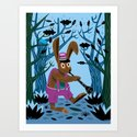 The Clarinet Bunny Art Print