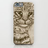 iPhone & iPod Case featuring Ocelot Watching, by Ave Hurley by ArtRaveSuperCenter: Ave Hurley Illustrat