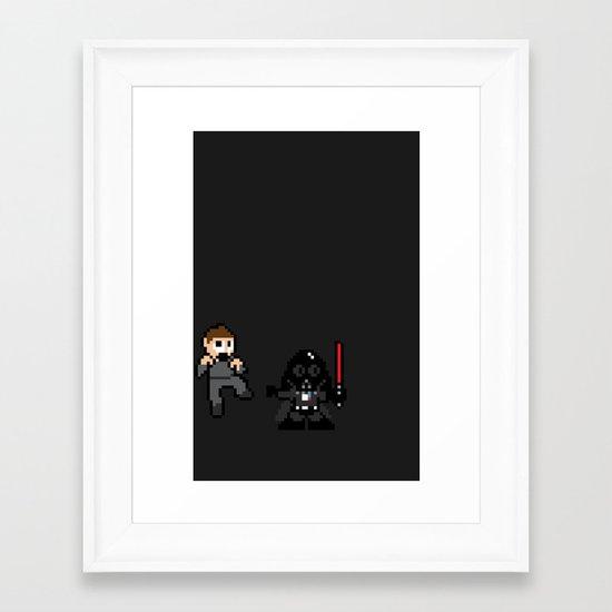 Pixel Wars Framed Art Print