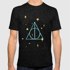 Harry potter // pastel deathly hallows Mens Fitted Tee Tri-Black SMALL