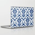 Ikat Damask Navy Laptop & iPad Skin