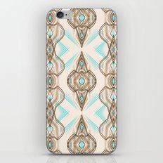Art Deco . Turquoise brown white .  iPhone & iPod Skin