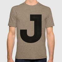 Just J Mens Fitted Tee Tri-Coffee SMALL
