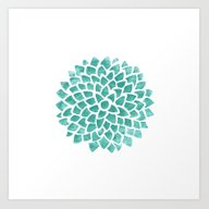Art Print featuring Teal Ice by Color And Form