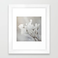 Winter macro Framed Art Print