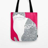 Pink-Cat Tote Bag